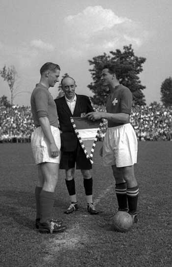 26.06.1949. Switzerland - Luxembour 5:2. Captains and referee: Victor Feller (Luxembour), Charles de la Salle (France), Roger Bocquet (Switzerland)