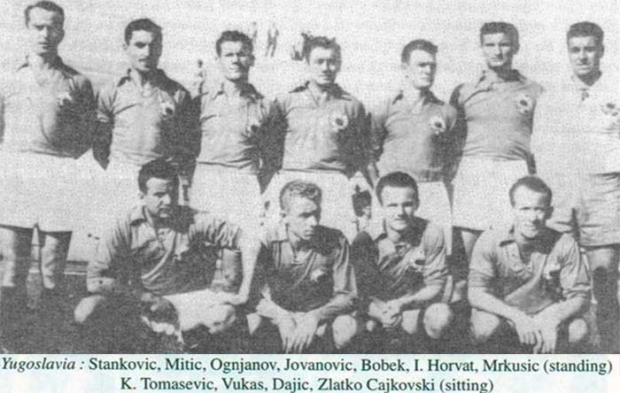 25.06.1950. Yugoslavia - Switzerland 3:0. Yugoslavia national team