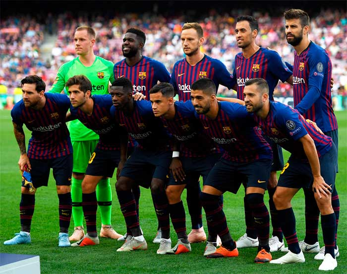 FC Barcelona. Group B match of the UEFA Champions League between FC Barcelona and PSV at Camp Nou on September 18, 2018 in Barcelona, Spain